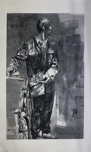 Wang Jinsong, 'Untitled (Man With Bicycle)', c. 2005