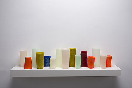 George Stoll, 'Untitled (15 tumblers on a 36 inch shelf #3)', 2012
