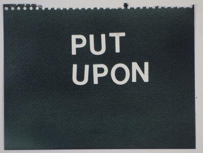 Betty Tompkins, 'Put Upon (black)'