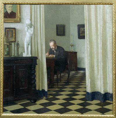Carl Moll, 'Self Portrait in his Study', 1906