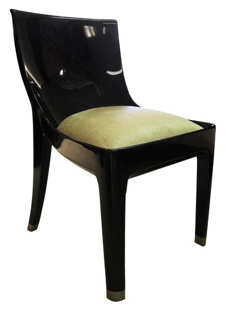 Jean Dunand, 'Prototype Single Commission Black Lacquer Chair', ca. 1925