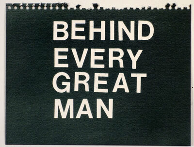 Betty Tompkins, 'Behind Every Great Man (black)'