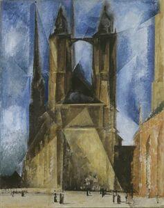 Lyonel Feininger, 'The Market Church at Halle', 1930