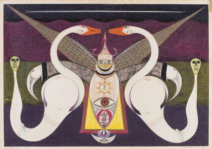 Friedrich Schröder-Sonnenstern, 'Der Schwanenpuppenntanz', 1959