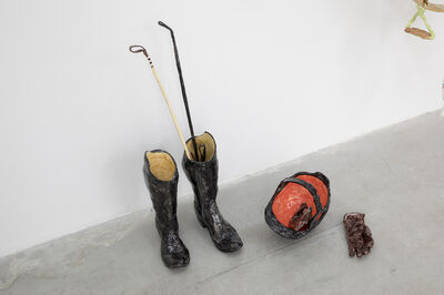 Rose Eken, 'Riding Boots With Helmet, Gloves And Wip', 2017
