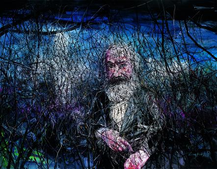 Zeng Fanzhi 曾梵志, 'Karl Marx, he is from Germany', 2007