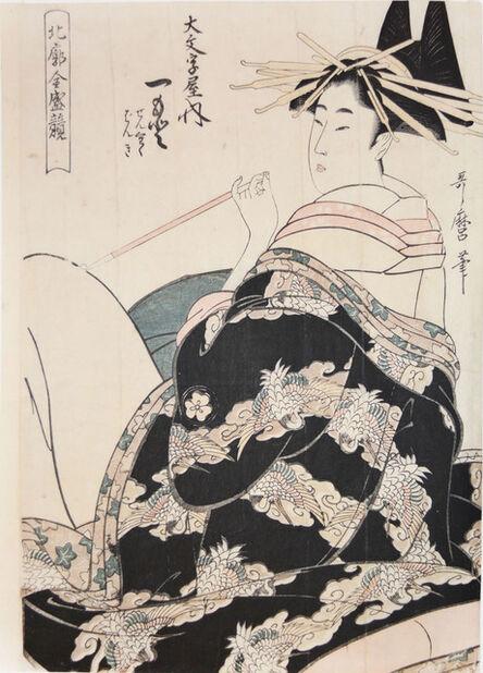 Kitagawa Utamaro, 'Courtesan Hitomoto from the House of Daimonjiya', ca. 1805