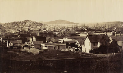 Carleton E. Watkins, 'City Front from Rincon Hill in 1860', 1860-1862