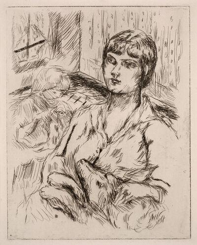 "Pierre Bonnard, 'Woman with Dog (La Femme au Chien) (illustration from ""Dingo"" by Octave Mirbeau)', 1924"