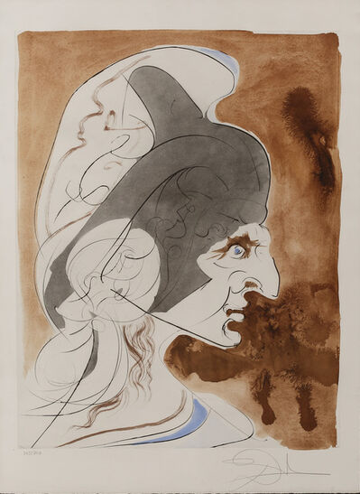 "Salvador Dalí, ' Condottiere  "" Hommage à Leonardo""', ca. 1975"