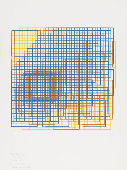 Frieder Nake, 'Walk-Through-Raster Vancouver Version', 1972