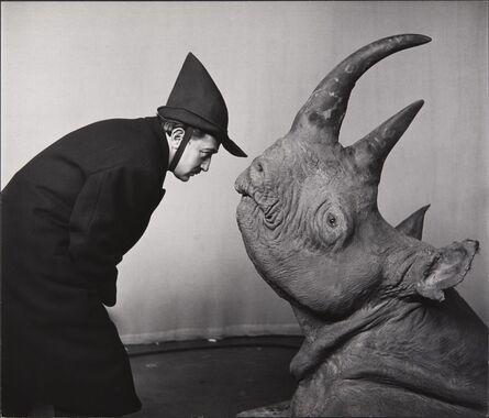 Philippe Halsman, 'Dali avec Rhinoceros (Dali with Rhinoceros)', 1956