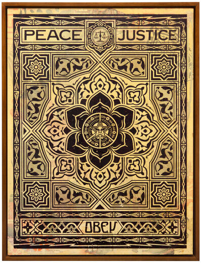 Shepard Fairey, 'Peace and Justice (Black)', 2012