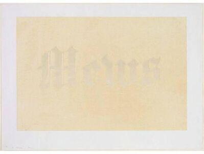 Ed Ruscha, 'Mews', 1970
