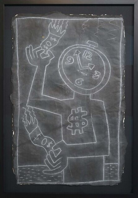 Keith Haring, 'Clock Face Burning Money', ca. 1980s