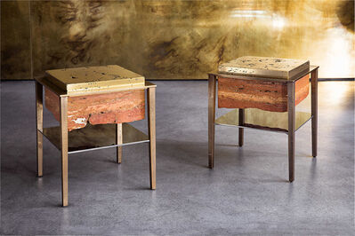 Gianluca Pacchioni, 'Cremino side tables', 2017