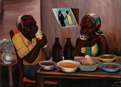 Moke, 'Couple à table', 1981