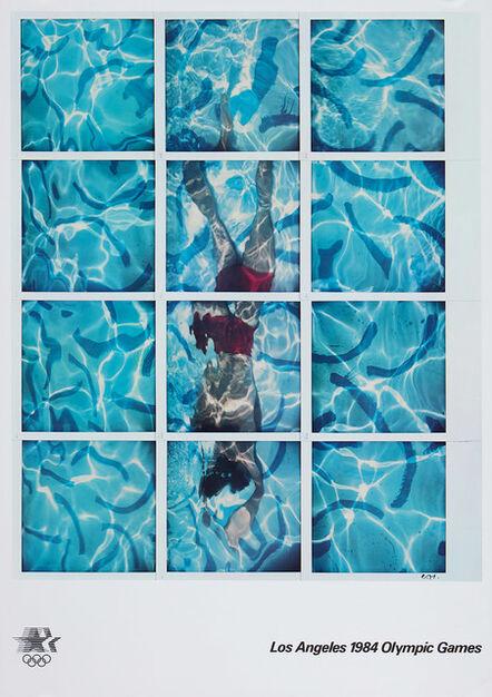 David Hockney, '1984 LA Olympics Poster (unsigned)', 1982