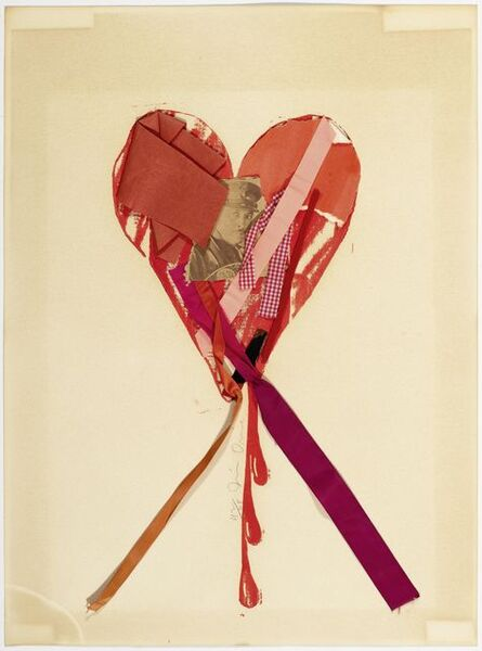 Jim Dine, 'Bleeding Heart with Ribbons and a Movie Star', 1968