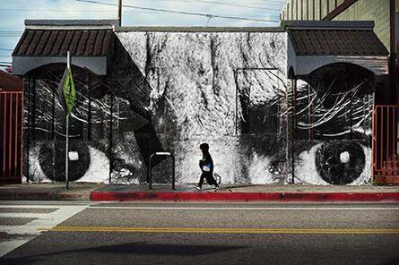 JR, 'The Wrinkles of the city, Los Angeles, Jim Budman, Venice, USA', 2011