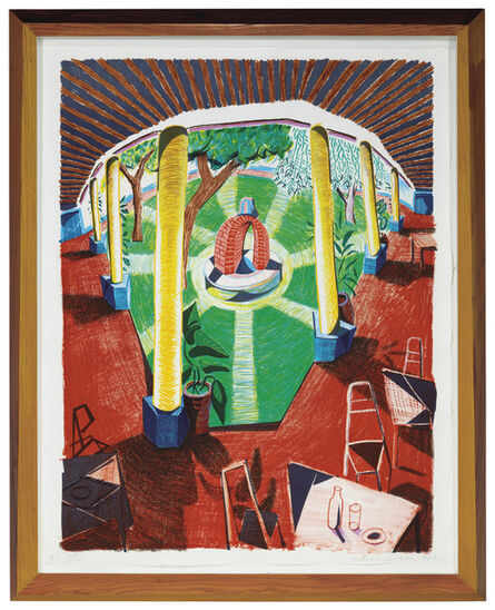 David Hockney, 'View of Hotel Well III, from Moving Focus', 1984-85