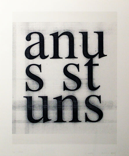 Christopher Wool, 'Anus Stuns (from the Psychopts portfolio)', 2008