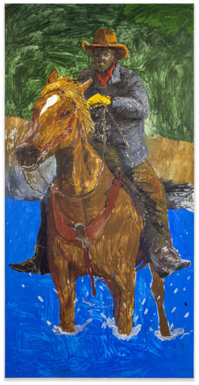 Matthew Chambers, 'Cowboy Forging the River', 2021