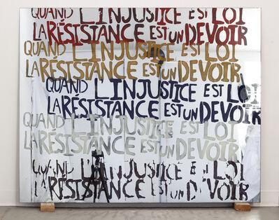 Sam Durant, 'Quand l'injustice devient loi la résistance est un devoir', 2017