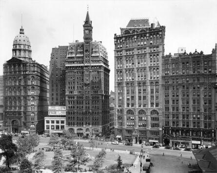 Berenice Abbott, 'Park Row: Newspaper Row, Manhattan,  July 23, 1936', 1936