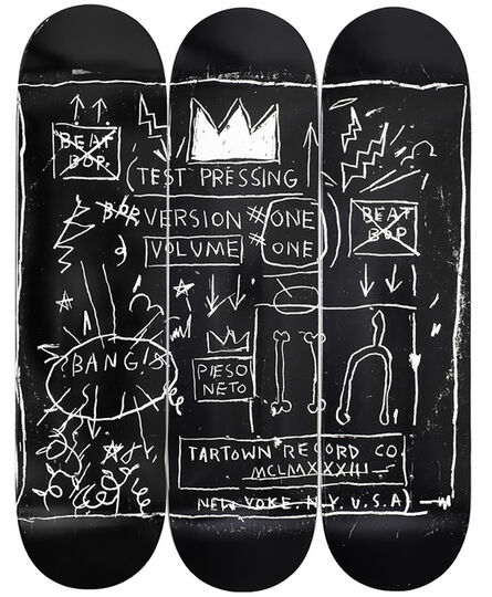 Jean-Michel Basquiat, 'Basquiat Beat Bop Skateboard Decks (set of 3)', 2020
