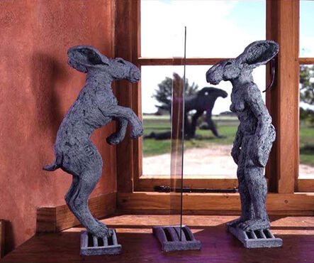 Sophie Ryder, 'Lady-Hare in a Mirror', 2001
