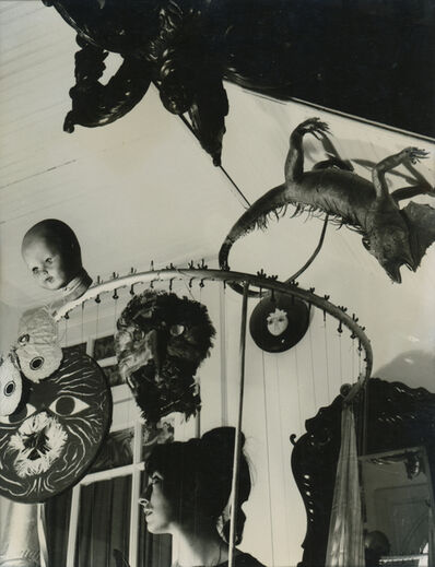 Kati Horna, 'Mujer y Mascara (Serie) Mexico', 1963