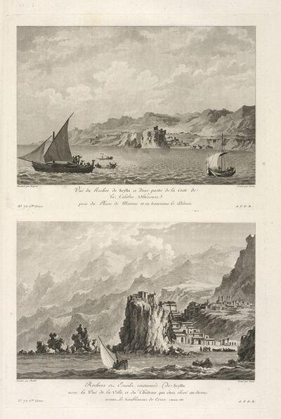 Jean Claude Richard de Saint-Non (author), 'Vu‰ du Rocher de Scylla ; Vu‰ d'�cueil de Scylla', 1781