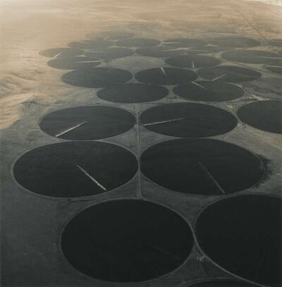 Emmet Gowin, 'Pivot Irrigation Near the One Hundred Circle Farm and the McNary Dam on the Columbia River, Washington', 1991