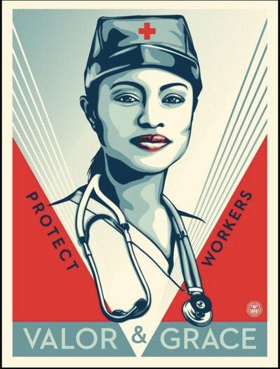 Shepard Fairey, 'Valor & Grace Nurse', 2020