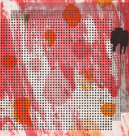 Jacqueline Humphries, ': : : (red)', 2016