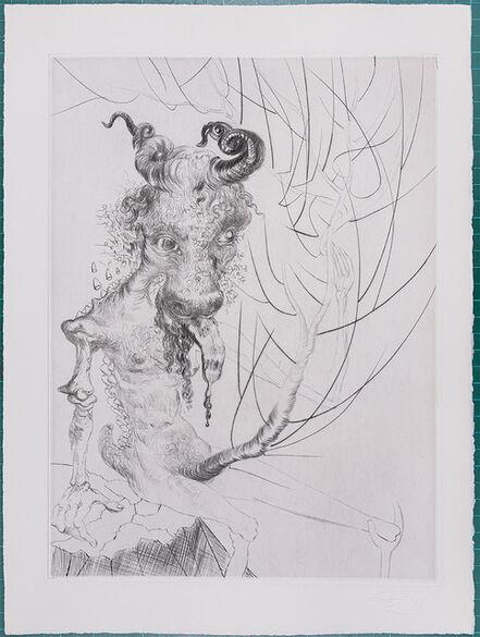 Salvador Dalí, ' Faust : Tête De Veau, 1969 - Original etching', 1969