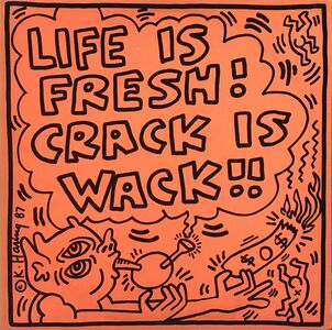 Keith Haring, 'Keith Haring Crack Is Wack Record Art 1987', 1987