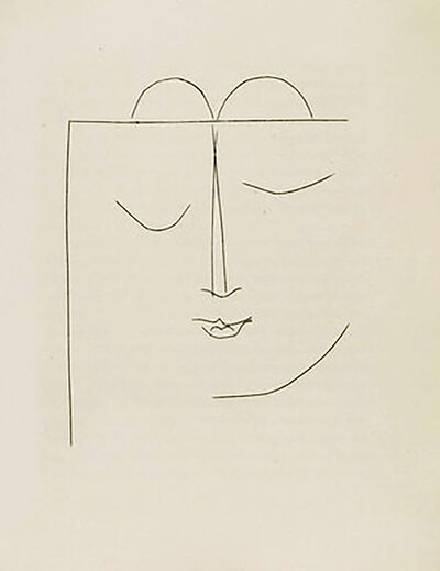 Pablo Picasso, 'Half-Square Head of a Woman with Closed Eyes and Full Lips (Plate XXVII)', 1949