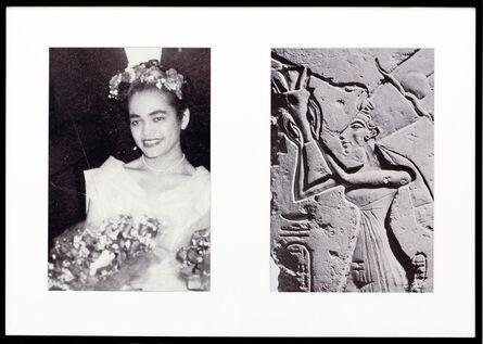 Lorraine O'Grady, 'Miscegenated Family Album (Ceremonial Occasions I), L: Devonia as Matron of Honor; R: Nefertiti performing a lustration', 1980/1994