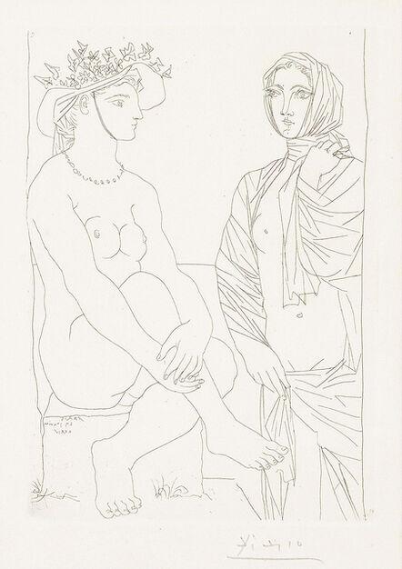 Pablo Picasso, 'Femme assise au Chapeau et Femme debout drapée (Woman sitting in hat and woman standing draped)', 1934