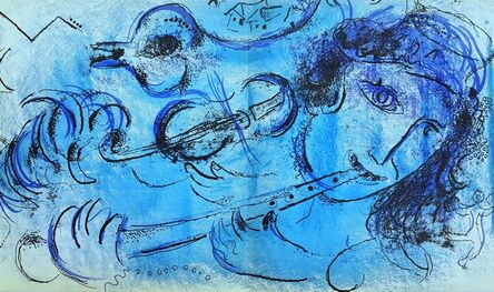 Marc Chagall, 'The Flute Player', 1957