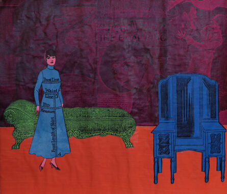 Larry Lewis, 'Untitled (Woman with Green Chaise Lounge)', ca. 1970