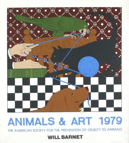 Will Barnet, 'Polly, Minou and Eon', 1979