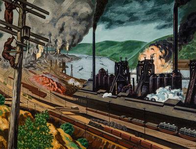 Louis Lozowick, 'Steel Valley', 1942