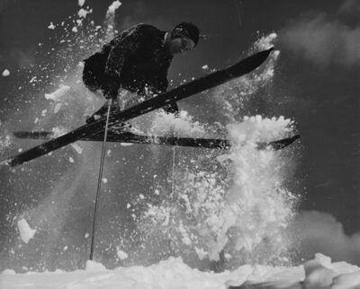 Herbert Matter, 'Skier in mid-air', ca. 1940
