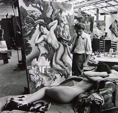 "Alfred Eisenstaedt, 'Thomas Hart Benton Paints ""The Rape of Persephone""', 1938"