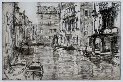 Donald Shaw MacLaughlan, 'Canal of the Shadow, Venice', 1926
