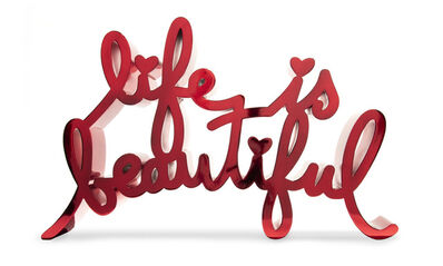 Mr. Brainwash, 'Life Is Beautiful-Hard Candy Red', 2020