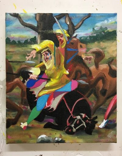 """Thomas Agrinier, 'Etude pour """"La mort du cavalier perse""""', 2020"""